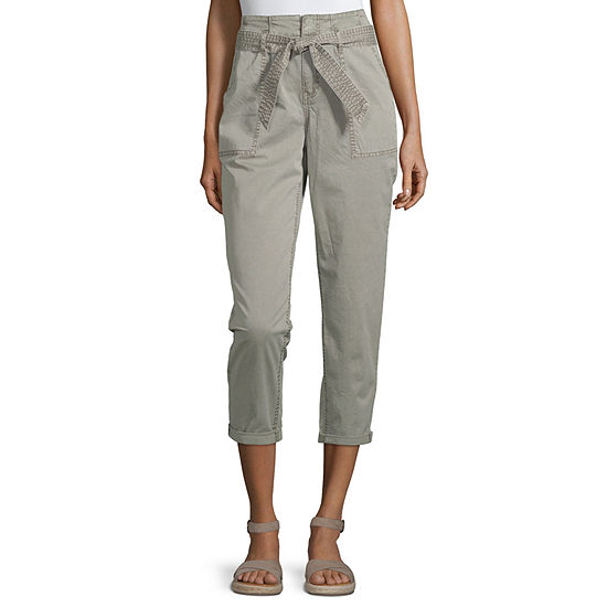 Arizona Womens Straight Pull-On Pants - Juniors
