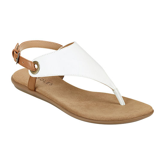 Aerosoles Womens In Conchlusion Ankle Strap Flat Sandals