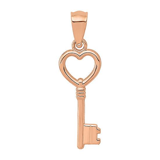 Womens 14K Rose Gold Keys Pendant