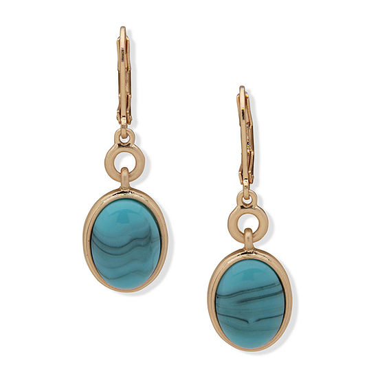 a.n.a Reconstituted Turquoise Drop Earrings