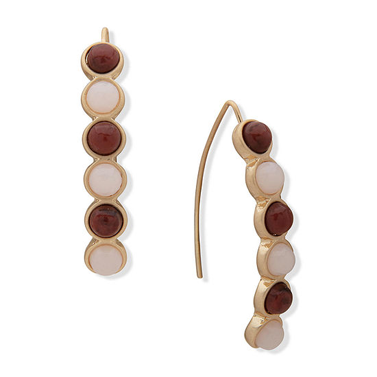 a.n.a Semi Precious Jasper Drop Earrings