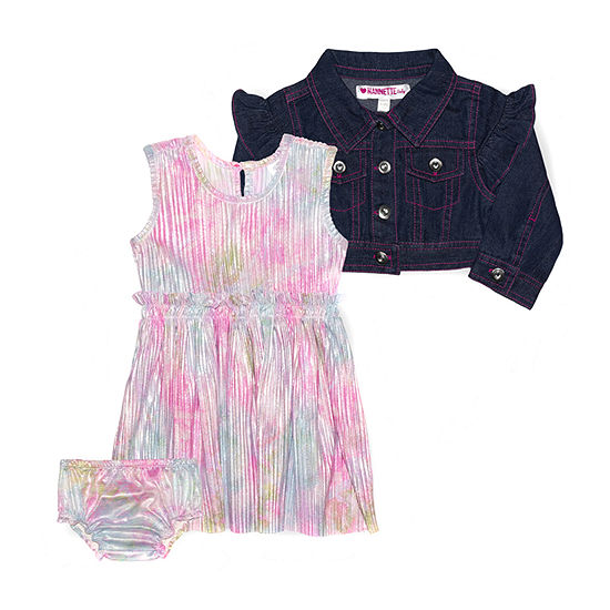 Nannette Baby Baby Girls Sleeveless 2-pc. Dress Set