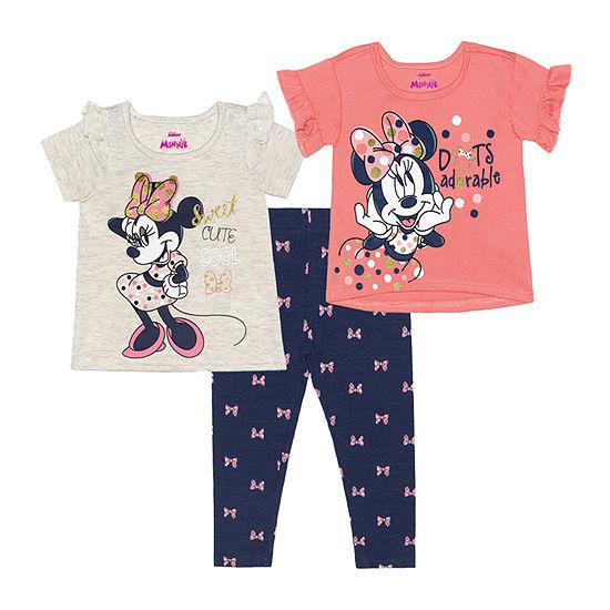 Disney Baby Girls 3-pc. Minnie Mouse Legging Set