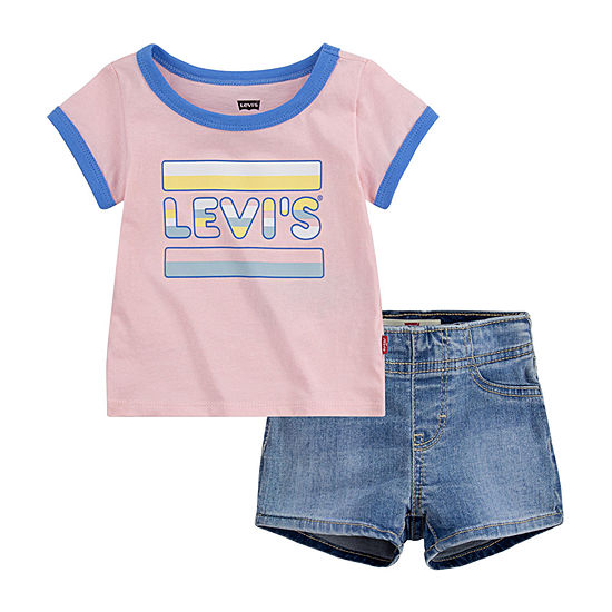 Levi's Baby Girls 2-pc. Short Set