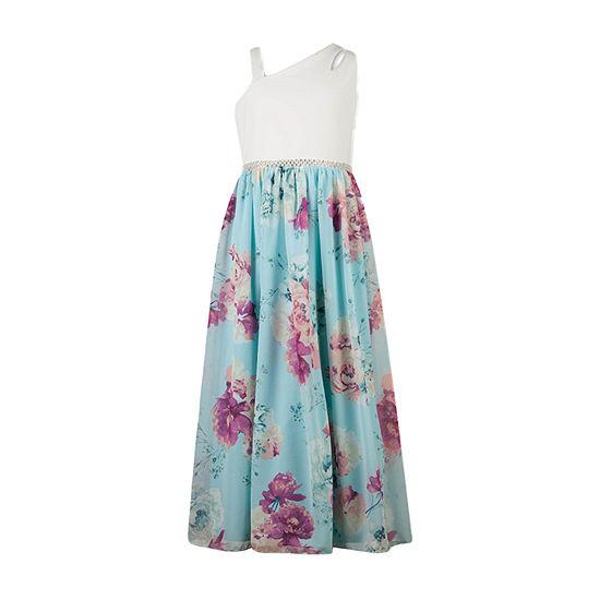 Speechless Big Girls Embellished Sleeveless Floral Maxi Dress
