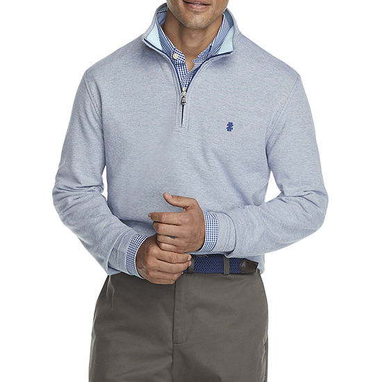 IZOD Advantage Performance Mens Mock Neck Long Sleeve Quarter-Zip Pullover