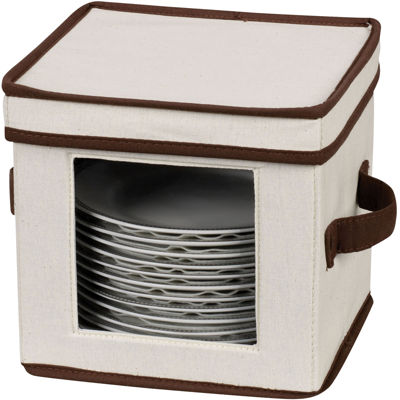 Household Essential® Salad Plate/Bowl Storage Chest