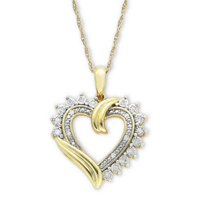 1/10 T.W. Diamond Heart Pendant Necklace