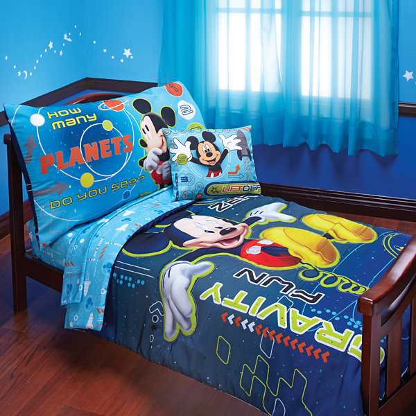 disney mickey mouse 4 pc toddler bedding