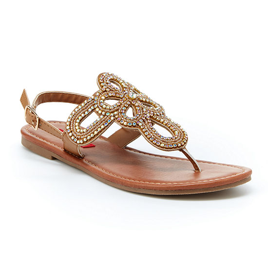 Unionbay Womens Richmond Ankle Strap Flat Sandals