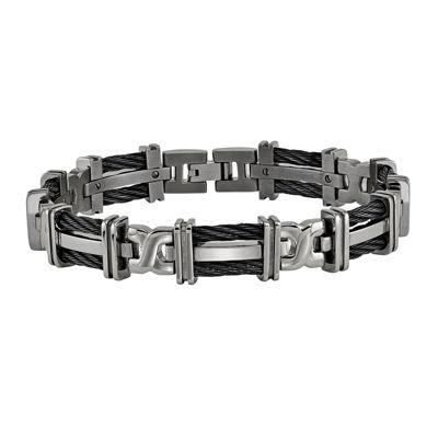 Edward Mirell Mens 8.5 Inch Titanium Link Bracelet