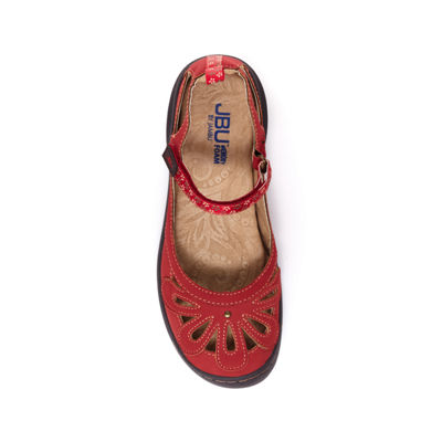 J Sport By Jambu Womens Wildflower Encore Mary Jane Shoes Hook and Loop Round Toe