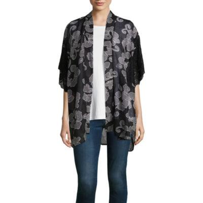 Mixit 3/4 Sleeve Floral Print Kimono