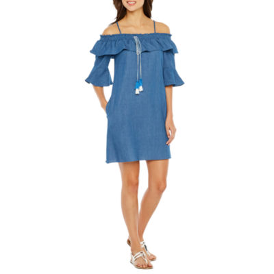 Vivi By Violet Weekend Elbow Sleeve Shift Dress