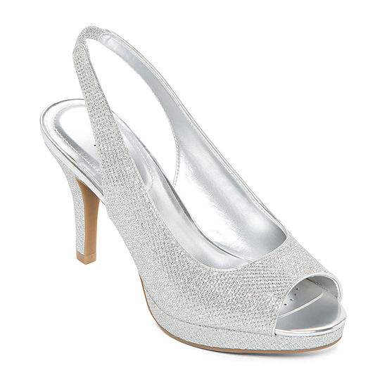 Worthington Womens Dayne Pumps Peep Toe Stiletto Heel