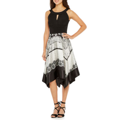 Melrose Sleeveless Abstract A-Line Dress