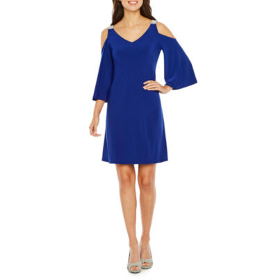 MSK 3/4 Sleeve Embellished Sheath Dress