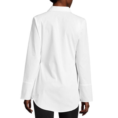 Worthington Corset Long Sleeve Top - Tall