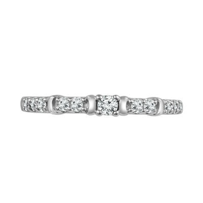 1/4 CT. T.W. White Diamond Sterling Silver Wedding Band
