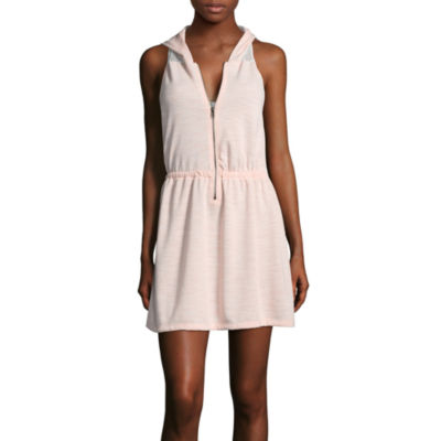 Inspired Hearts French Terry Swimsuit Cover-Up Dress-Juniors