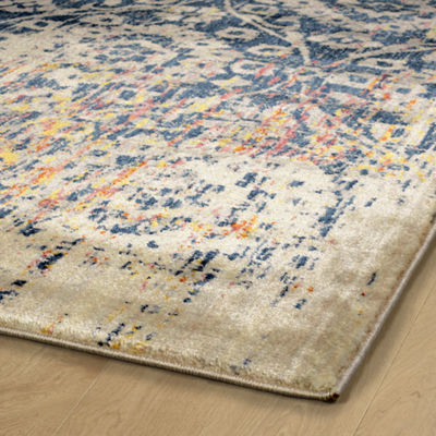 Kaleen Tiziano Vintaged Washed Kashan RectangularRug