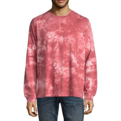 Arizona Long Sleeve Crew Neck Tie Dye T-Shirt