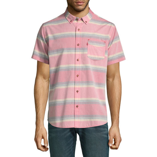 Levi's® Short Sleeve Stripe Button-Front Shirt