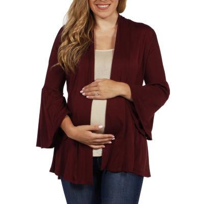24/7 Comfort Apparel Shirt Jacket-Maternity