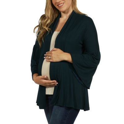 24/7 Comfort Apparel Shirt Jacket-Plus Maternity