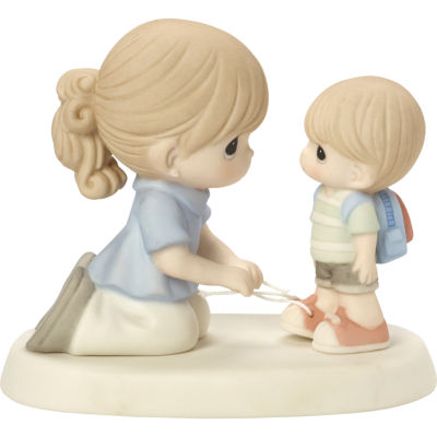 "Precious Moments  ""Love Ties Us Together""  Bisque Porcelain Figurine  #164004"