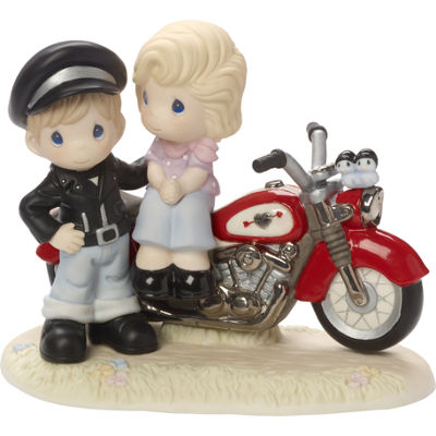 "Precious Moments  ""You're My Road To HappinessLimited Edition  Bisque Porcelain Sculpture  #164001"