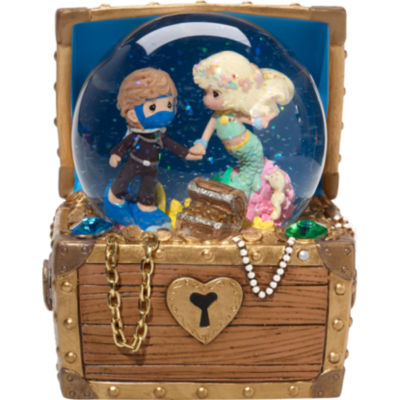 """Precious Moments  Valentine's Day Gifts  """"LoveIs The Greatest Treasure""""  Resin/Glass MusicalSnow Globe  #164104"""