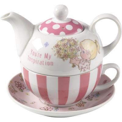 "Precious Moments  ""You're My Inspiration""  Porcelain Tea For One Set  #164442"