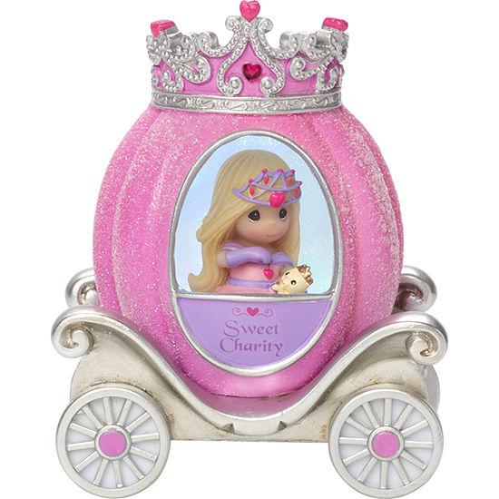 "Precious Moments ""Charity Princess Carriage"" Resin/Vinyl Light-Up Figurine #164404"