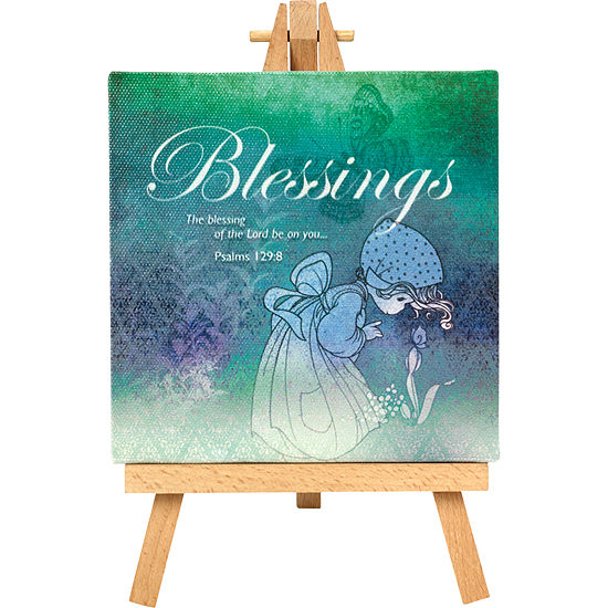 """Precious Moments  """"Blessings""""  Home Decor Canvas with Easel  #164441"""