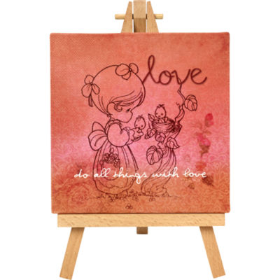 """Precious Moments  """"Love""""  Home Decor Canvas with Easel  #164441"""