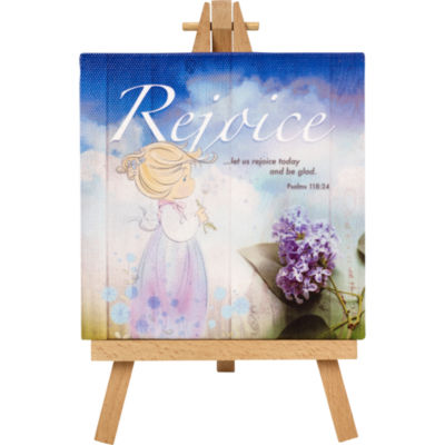 """Precious Moments  """"Rejoice""""  Home Decor Canvaswith Easel  #164446"""