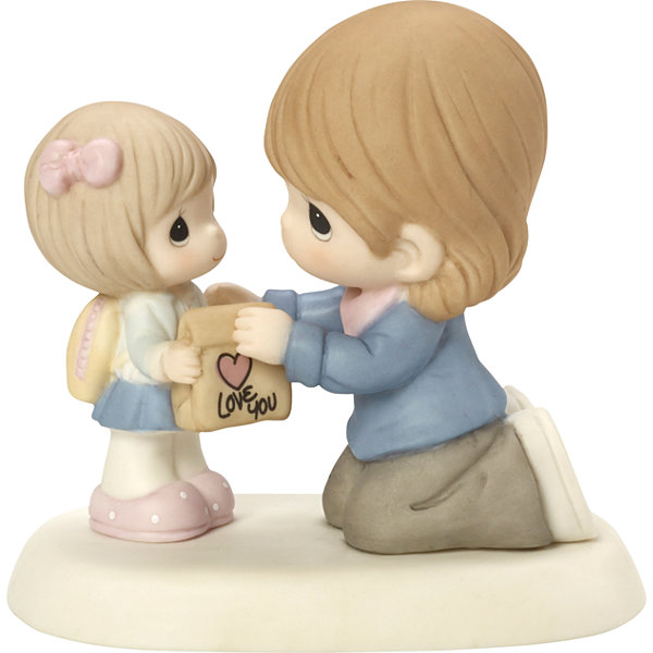 "Precious Moments  ""My Heart Goes With You Always""  Bisque Porcelain Figurine  #164006"