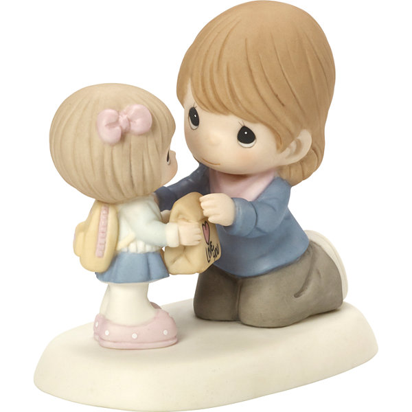 "Precious Moments  ""I Love The Way You Love Me""Bisque Porcelain Figurine  #164043"