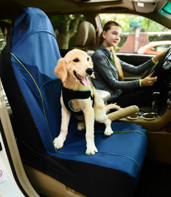 Pet Life Open Road Mess-Free Single Seated Safety Car Seat Cover Protector For Dog
