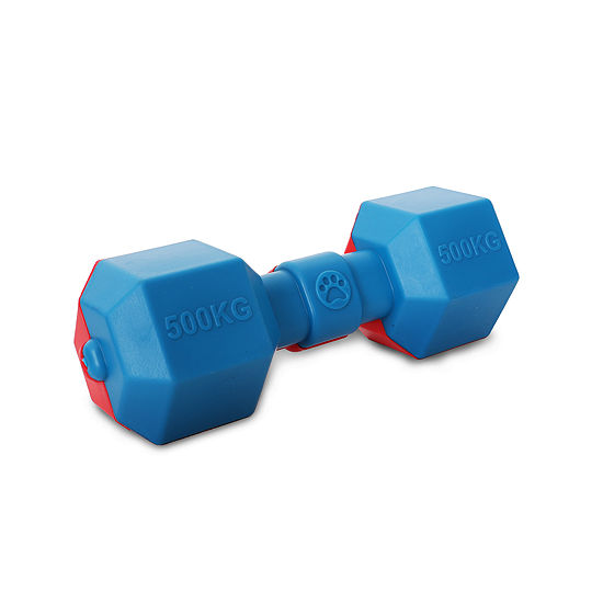 Pet Life Dumbbell Durable Water Floating Chew and Fetch Dog Toy