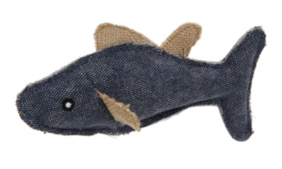 Pet Life Durable Fish Plush Kitty Catnip Cat Toy -2 Pack