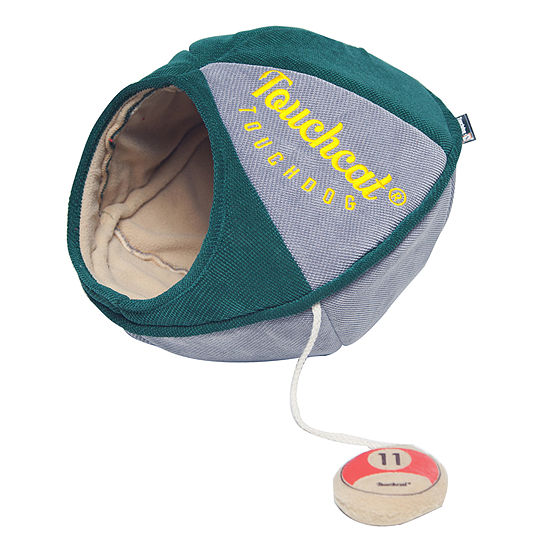 Touchcat Saucer Oval Collapsible Walk-Through Pet Cat Bed House with Playactive Toy