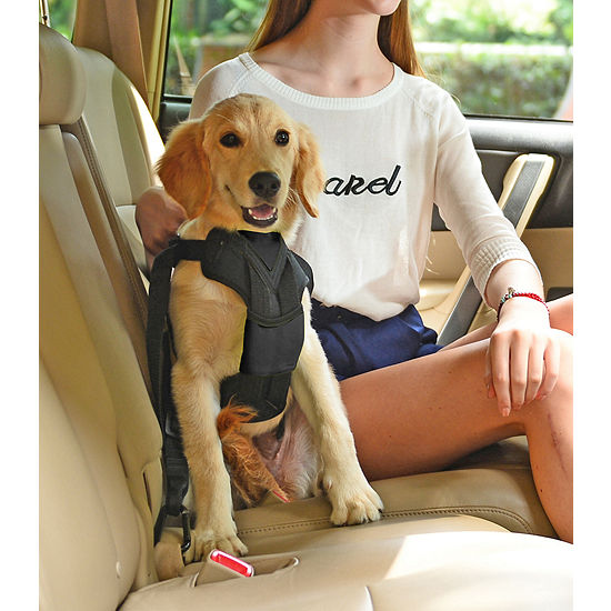 Pet Life Road-To-Safety Pet Dog Car Harness with Detachable Swivle Hook