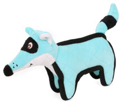 Pet Life Foxxy-Tail Quilted Plush Animal Squeak Chew Tug Dog Toy