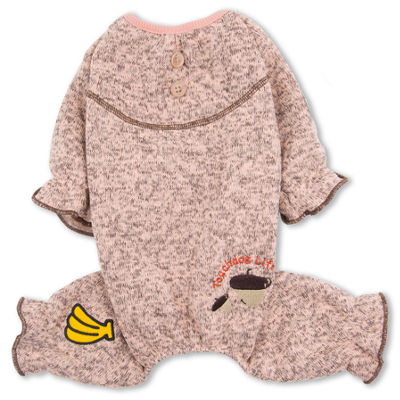 Touchdog Bark-Zz Designer Soft Cotton Full Body Thermal Pet Dog Jumpsuit Pajamas