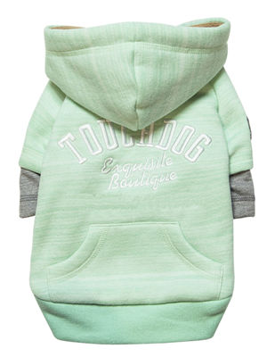 Touchdog Hampton Beach Designer Ultra Soft Sand-Blasted Cotton Pet Dog Hoodie Sweater