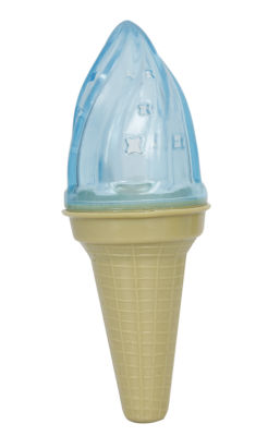 Pet Life Ice Cream Cone Cooling 'Lick and Gnaw' Water Fillable and Freezable Rubberized Dog Chew and Teether Toy