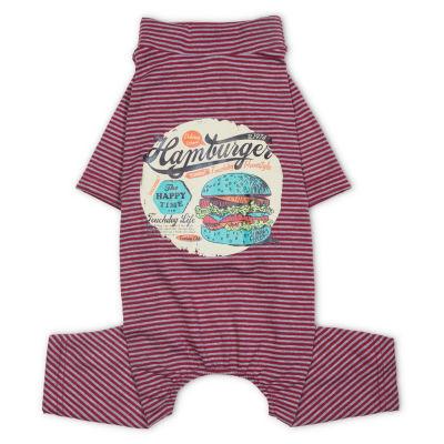 Touchdog Onesie Lightweight Breathable Printed Full Body Pet Dog T-Shirt Pajamas