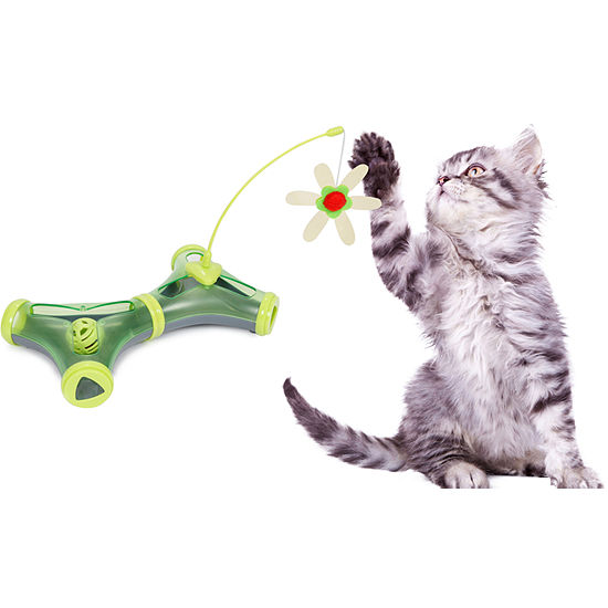 Pet Life Kitty-Tease Interactive Cognative Training Puzzle Cat Toy Tunnel Teaser